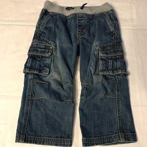 Hanna Andersson Blue Denim Cargo Jeans Boys 3T